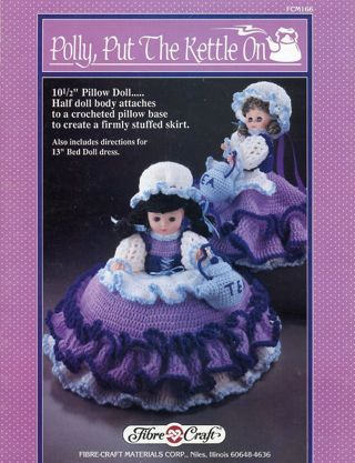 Free Pillow Doll Pattern Polly Put The Kettle On By Fibre Craft
