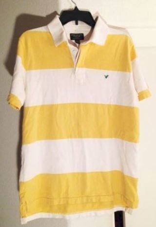 1 American Eagle Outfitters Shirt Collar Polo Tee FREE SHIPPING