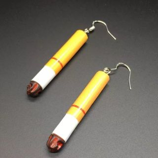 Cigarettes drop earrings funny gag gift New free ship