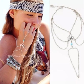 NEW!!!  SILVER TONED FINGER RING AND BRACELET
