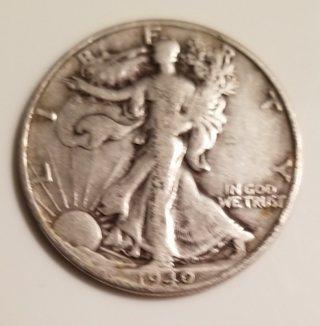 1940 Walking Liberty Half Dollar - 90% Silver