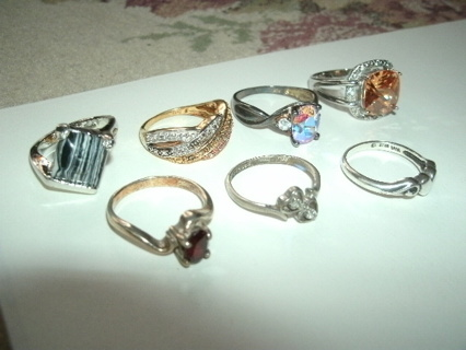 Lot of 7 Rings