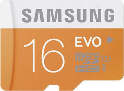 Samsung - 16GB microSD Class 10 UHS-1 Memory Card - Orange