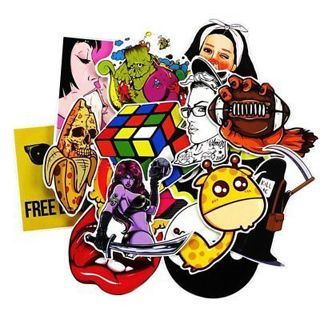 NEW (10)*Luck of The Draw*10 NEW Random Pop Culture Sticker Art Music Movies Fashion