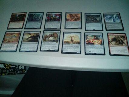 12 mixed MTG cards