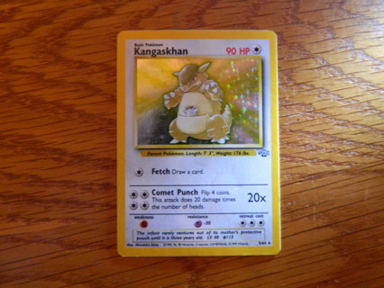 Kangaskhan 5/64 RARE Holo - 1999 Wizards Pokemon Card / Jungle Set - FREE Shipping! **