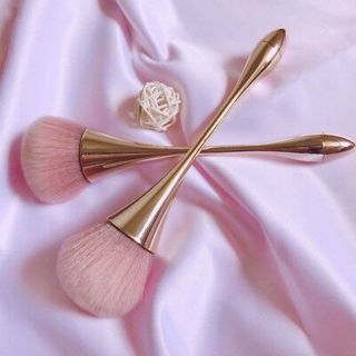 Rose Gold Powder Blush Brush Contour Make Up Brush Large Cosmetic Face Tools