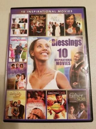 2014 Blessings + 9 Other Inspirational Movies 2 Disc Dvd Movie-New & Sealed PG-13