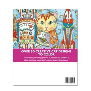 Creative Haven Creative Cats Coloring Books For Adults 24pages Stress Relieving Antistress Coloring