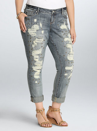 Torrid Premium Boyfriend Star Stud Jeans