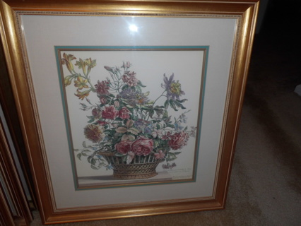Flower Picture in Frame 26 x 29 - Local pick up