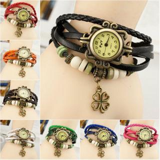 Beauty Women's Vintage Butterfly Pendant Band Ladies Quartz Charm Wrist Watch
