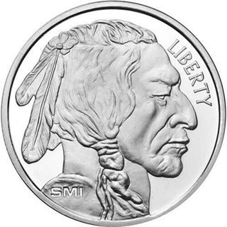 1oz FINE SILVER 999 INDIAN HEAD 2015