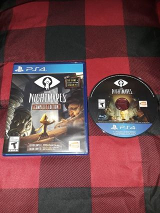 PS4 LITTLE NIGHTMARES VIDEOGAME...VERY GOOD CONDITION...NO SCRATCHES...FREE SHIPPING WITH TRACKING