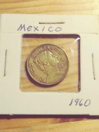 1960 Mexico Cinco Centavos! 97