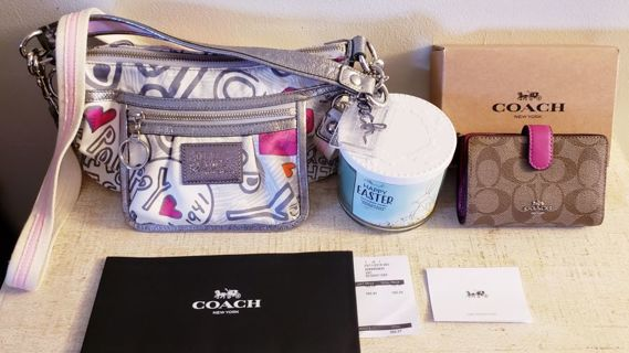 *Happy Easter* COACH Poppy + Wallet + Bath & Body Works Chocolate Bunny Candle!