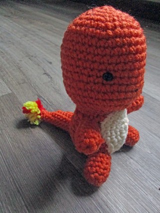 Charmander Inspired Toy. New. Crocheted by Me