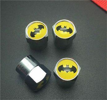 4PCS Batman Tire Wheel Rims Stem Air Valve Caps Tyre Cover Car Truck Bike