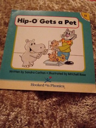 Used Children's Hooked on Phonics Book Hip- O Gets A Pet
