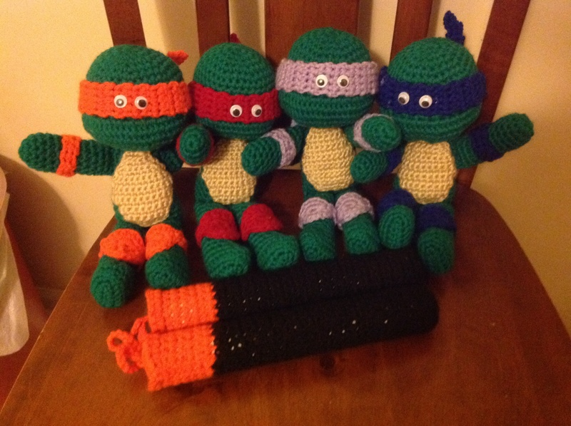 TMNT Crochet Amigurumi (Pattern) by SirPurlGrey on DeviantArt | 598x800