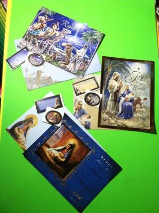**~ Holy Christmas cards set card lot ~** 3 card sets
