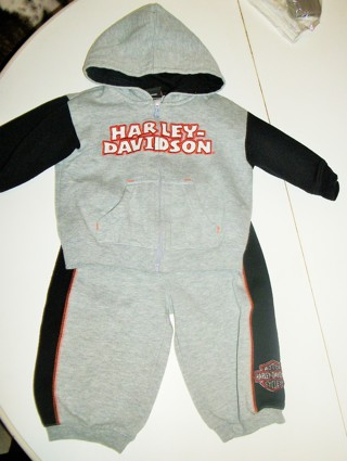 Harley Davidson Jacket and Pants Set Size 12M