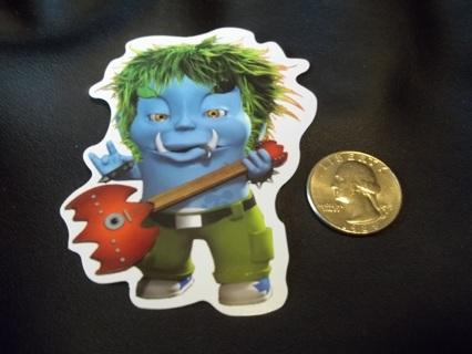 Weird troll guitar sticker