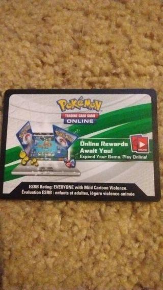 Pokemon TCG Online code card's