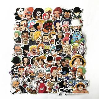 61 Pcs/Lot Anime 2019 ONE PIECE Luffy Stickers For Car Laptop PVC  Backpack Home Decal Pad Bicycle