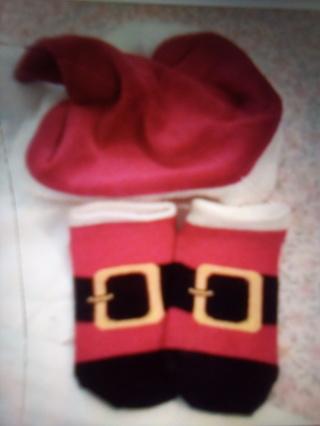 Christmas hat and socks