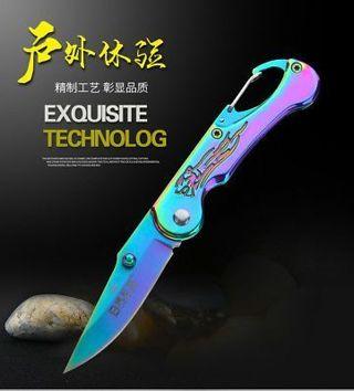 EDC Colorful Mini Folding Pocket knife Keyring Outdoor Survival SharpTactical