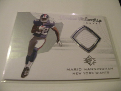 NFL - MARIO MANNINGHAM ROOKIE PATCH CARD