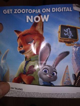 Disney Zootopia movie code plus points