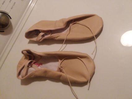 Capezio Beige Leather Ballet Flats