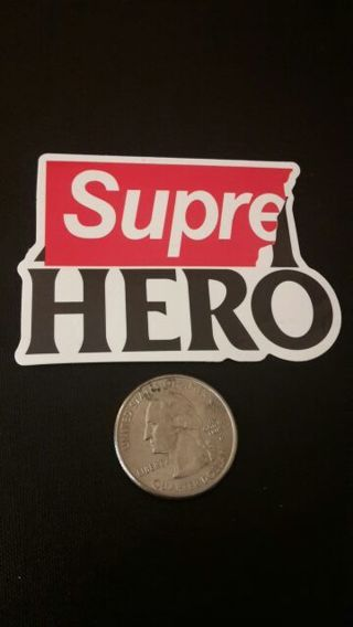 Supreme Super Supre Hero Vinyl Decal Sticker Bomb Car Bike Motorcycle Skateboard Laptop Scrapbooking