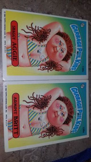 LOT OF ORIGINAL OLD GARBAGE PAIL KID CARDS,SEE ALL PICTURES