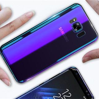 Aurora Blue Ray Phone Case For Samsung Galaxy S9 S9 Plus Ultra Thin PC Cover For Samsung S8 S7 Edg