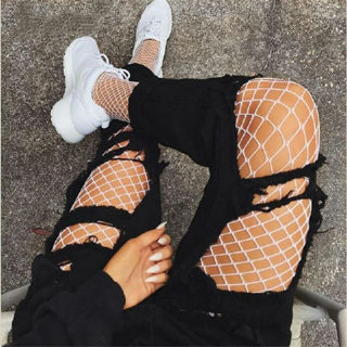 Plus Size Lingerie Sexy Stockings For Women Transparent Mesh Pantyhose Female Tights High Waist Slim