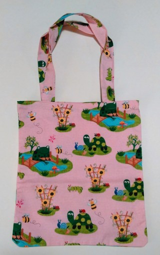 *Frog/Turtle/Bumblebees Print Tote Bag - One of a kind, 100% Handmade by Bravissimo Designs!
