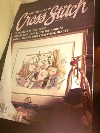 Vintage Cross Stitch Pattern Books/Leaflets/Pamphlet (B-1003) Group of 6