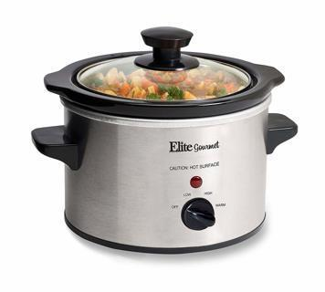 NEW Elite Gourmet MST-250XS 1.5 Quart Stainless Steel Slow Cooker, Silver FREE SHIPPING