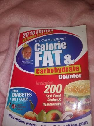 The Calorie fat & carbohydrate counter book