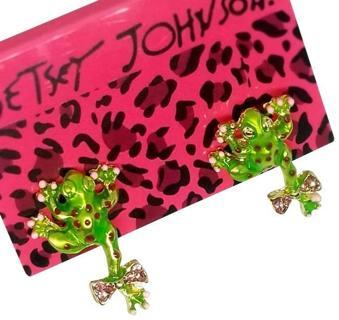 Betsey Johnson Frog Stud Earrings cute !New free ship