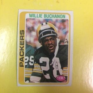 1978 Topps #198 CB Willie Buchanon - Packers