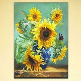 Sunflower DIY 5D Full Drill Diamond Painting Embroidery Cross Stitchs