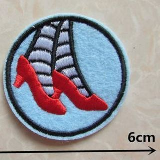 1 NEW Ruby Red Slippers IRON ON Patch WIZARD OF Oz Movie Wicked Witch Dorothy