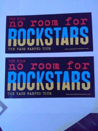 "2 ""No Room For Rockstars"" Stickers"