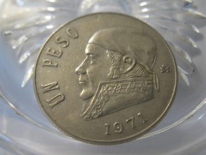 (FC-156) 1971 Mexico: 1 Peso - Un Peso