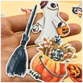 33pcs Hand Drawing Watercolor Halloween Eve  decoration Notebook Planner Scrapbooking, DIY Paper S