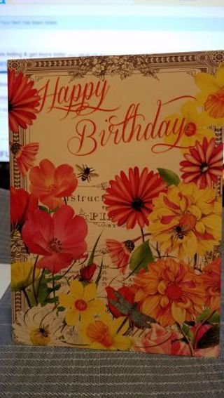 BEAUTIFUL HAPPY BIRTHDAY CARD W/ MATCHING ENVELOPE